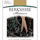 Berkshire Shimmers Ultra Sheer Control Top Pantyhose Black size 4 #4429