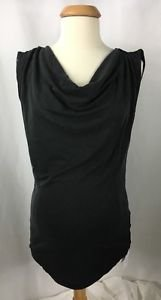 Mama.Licious Maternity Black Plunge Neck Sleeveless Top NWT size XS M L