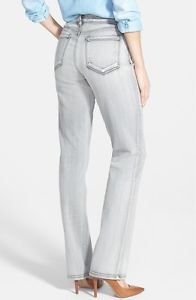 NYDJ Not Your Daughters Jeans Marilyn Straight Stret Eureka Gray Wash NWT size 6