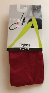 Hanes Seasonless Control Top Tights 0B407 Crimson Red NWT size Medium