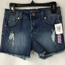 Aqua Brand Girls Ripped Up Denim Stretch Jean Shorts NWT size 10