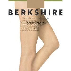 BERKSHIRE Shimmering Leg Invisible Toe Thigh Highs #1340 Candlelight QUEEN 1