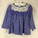 First Impressions Baby Toddler Girls Purple Polka Dot Long Sleeve Shirt NWT 18mo
