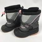 Chill Chasers Buster Brown Girls Gray Pink Snowdrift Winter Snow Boots Size 7