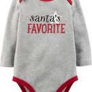 Carter's Santa's Favorite Girl Boy One Piece Long Sleeve Bodysuit NWT 12 months