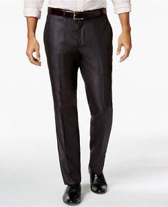 Kenneth Cole Reaction Men's Charcoal Basketweave Slim Fit Suit Pants NWT 29W