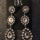 International Concepts Silver-Tone Crystal Stone Linear Drop Post Earrings