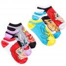 Disney women's Little Mermaid 6-pair Pack No-show Socks 9-11