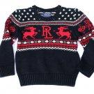 Ralph Lauren Little Boys Holiday-Print Sweater Polo Black size 4