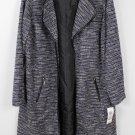 JM Collection Plus Size Shimmer Stripe Long Jacket size 1X