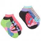 Dreamworks Trolls women's 6-pair Pack No-Show Socks Neon 9-11