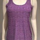 ALFANI Intimates Slinky Sleeveless Purple Mums Soft Sleep Top NWT Small