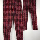 Mommy & Me Matching Leggings Black Red Houndstooth NWT Womens OS Girls L/XL