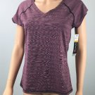 Ideology Womens Performance Tee Textured Pullover Top