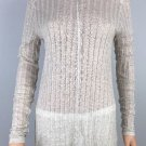 Lucky Brand High-Low Knit Turtleneck Long Sleeve Top Natural Beige NWT size XL