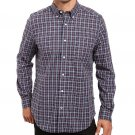 Nautica Men's Classic-Fit Long Sleeve Classic-Fit Ensign Plaid Shirt Blue Small