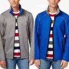 Point Zero Men's Reversible Full-Zip Weatherproof Stand-Collar Jacket Blue/Gray