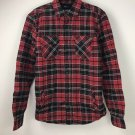 American Rag Mens Plaid Shirt Jacket Sherpa Lining Deep Black Red NWT size Small