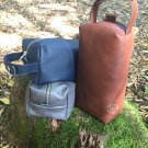 Dopp kit/ Leather toiletry bag/ durable leather/ personalized gift/ blue leather bag