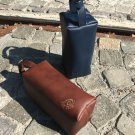 Leather toiletry bag Dopp kit durable leather/ personalized gift/ brown leather bag