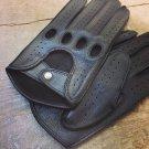 Men's Deerskin Driving Gloves Hand sewn Deer skin driving gloves Black gloves Unlined Size 8,5'' M