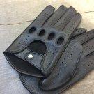 Men's Deerskin Driving Gloves Hand sewn Deer-skin Black gloves Size 8 inches M Unlined
