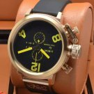 Men Watch U1215 Classico Chronograph 50mm Stainless Steel Color Black Yellow
