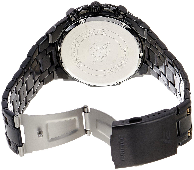 Casio Edifice Efr 539bk 1av Chronograph Stainless Steel Quartz Color 540d Black