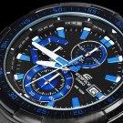 Casio Edifice EFR-539BK-1A2V Chronograph Stainless Steel Quartz Color Black