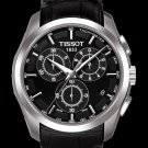 Men Watch Tissot Couturier T035.617.16.051.00 Chronograph Leather Strap Dial Color Black