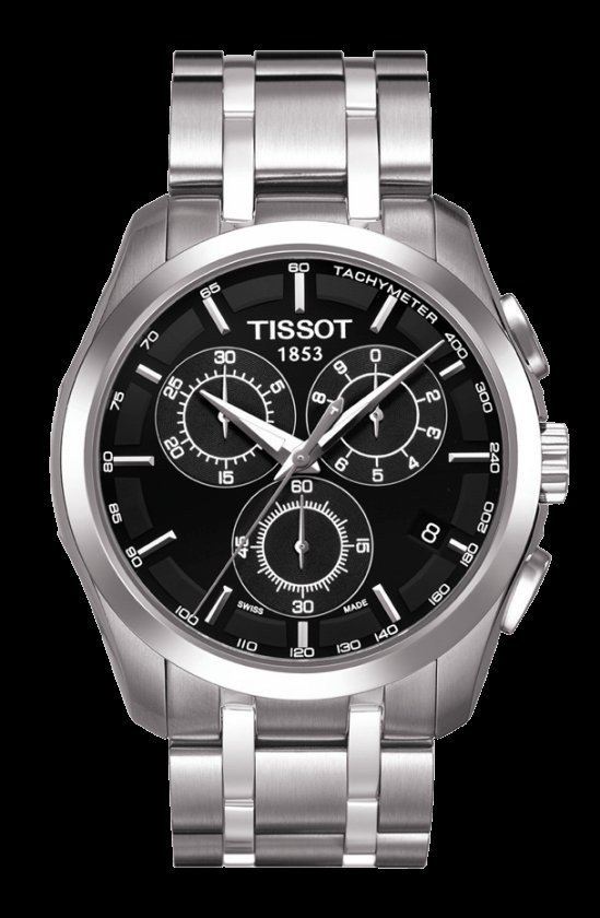 Men Watch Tissot Couturier T035.617.11.051.00 Chronograph Stainless Steel Dial Color Black