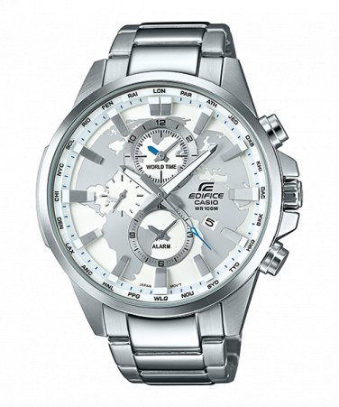 Casio Edifice EFR-303D-7A Chronograph Stainless Steel Quartz Color White