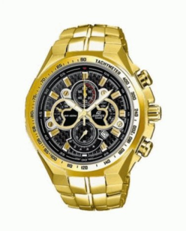 Casio Edifice EF-554FG-1AV Chronograph Stainless Steel 45mm Quartz Color black
