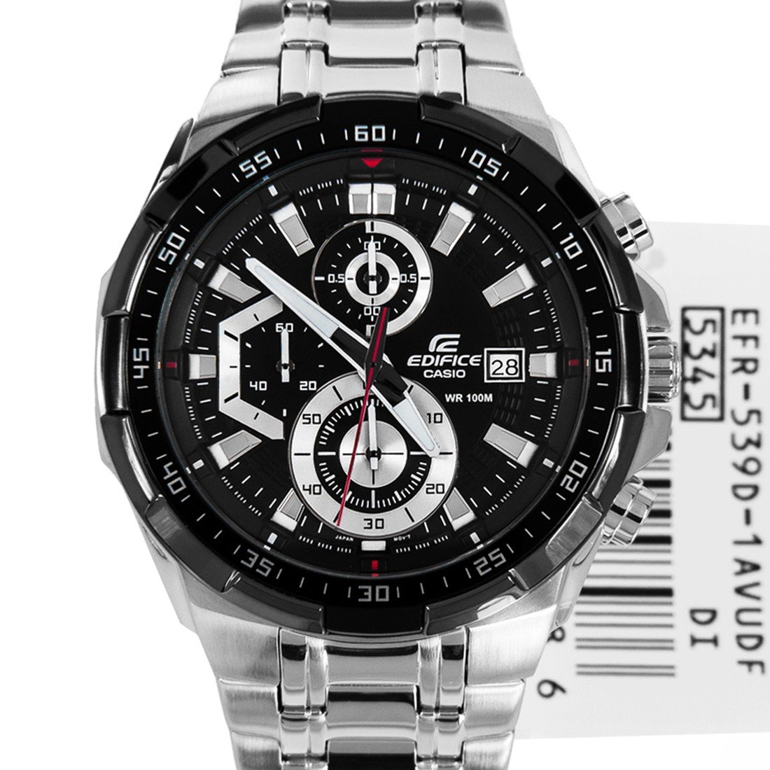 Casio Edifice EFR-539D-1AV Chronograph Stainless Steel Quartz Color Black
