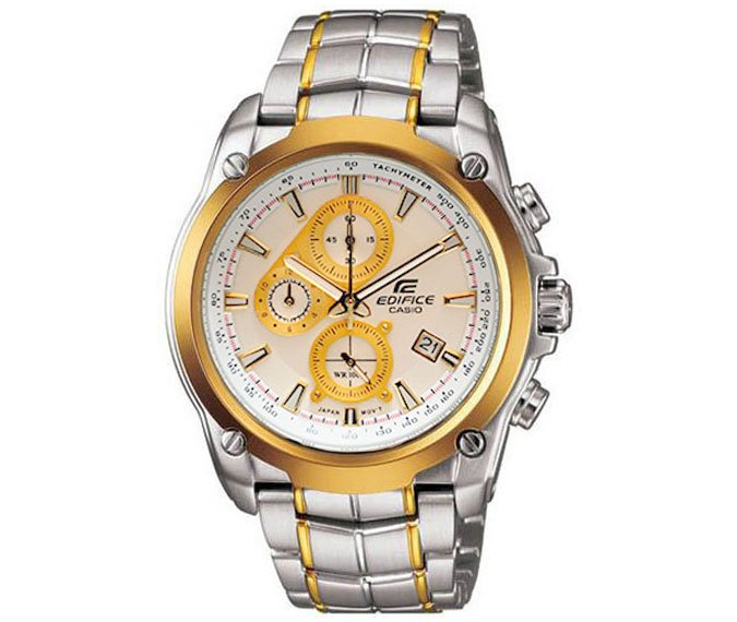 Casio Edifice EF-524SG-7AV Chronograph Stainless Steel Size 43mm Color White