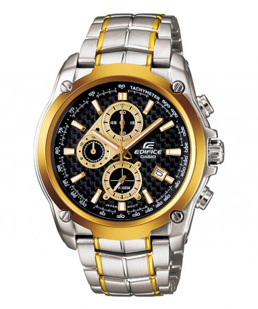 Casio Edifice EF-524SG-1AV Chronograph Stainless Steel Size 43mm Color Black