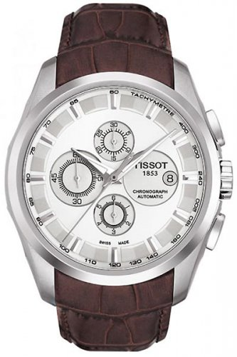 Men Watch Tissot Couturier T035.627.16.031.00 Chronograph Stainless Steel Dial Color White