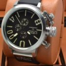 Men Watch U-Boat 1001 Silver Bezel Stainless Steel Case Size 50mm