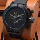 Men Watch U-Boat Nero Chronograph Quartz Black Dial Black Bezel