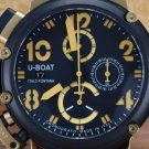 Men Watch U-BOAT Chronograph Stainless Steel Case 50mm Leather Strap