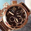 Men Watch U-Boat Italo Fontana Chronograph Size 50mm Bezel Gold Tone
