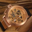 Men Watch U-Boat Italo Fontana Chronograph Tourbillon Gold Tone Bezel