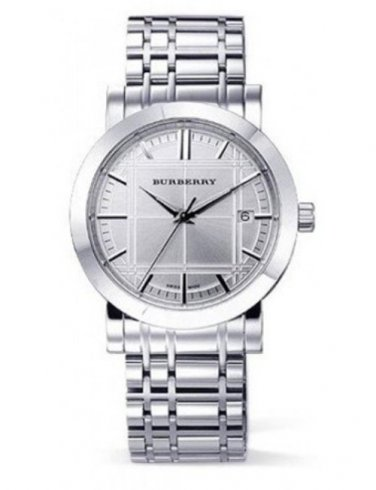 Women Watch Burberry Heritage BU1351 Size 28mm Stainless Steel Dial Color Silver
