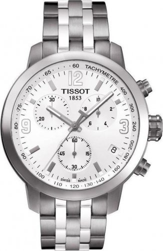 Men Watch Tissot T055.417.11.037.00 Chronograph Stainless Steel Dial Color Grey