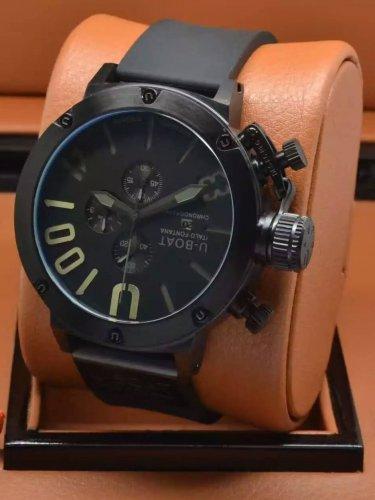 Men Watch U1001 Chronograph 50mm Stainless Steel Case Bezel Color Black