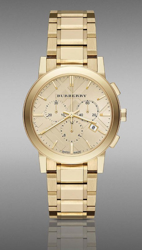 Women Watch Burberry BU9753 Chronograph Stainless Steel Size 38mm