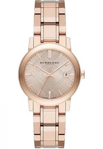 Women Watch Burberry BU9135 Stainless Steel Dial Size 34mm Color Rose Gold
