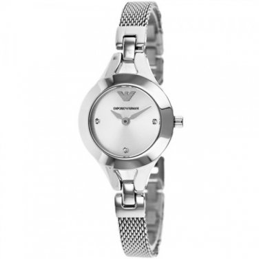 Women Watch Emporio Armani AR7361 Stainless Steel Size 28mm Color Silver
