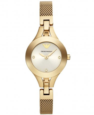 Women Watch Emporio Armani AR7363 Stainless Steel Size Strap Gold Tone Color