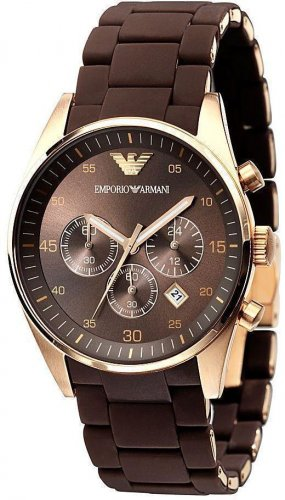 Women Watch Emporio Armani AR5891 Stainless Steel Size 38mm Chronograph